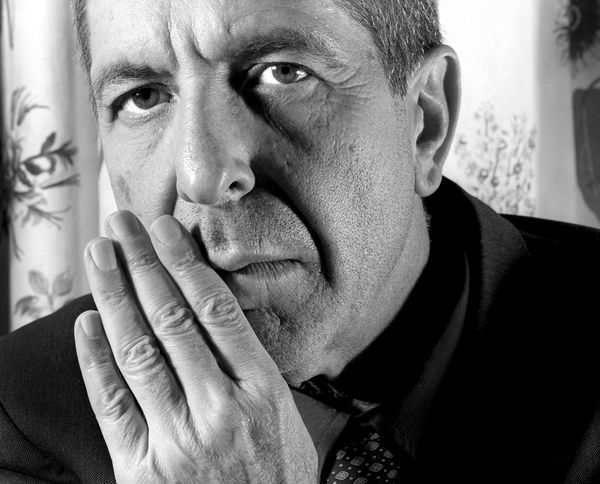 Portraits of Canadian singer-songwriter, musician, poet and novelist Leonard Cohen photographed in London. Job: 55670 Ref: BM