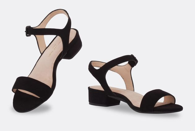 The same shoe with the flat heel