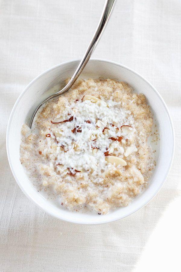 "<strong>Get the <a href=""http://figandhoney.co/2014/01/30/cardamom-coconut-semolina-porridge/"" target=""_blank"">Cardamom Cocon"