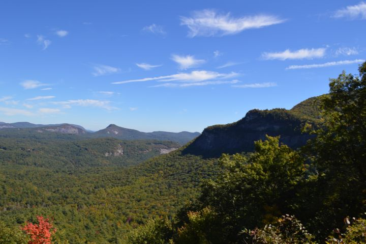 <p>The stunning view from the drive into Highlands, NC.</p>