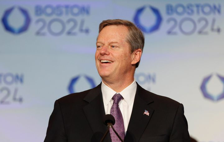 """Massachusetts Gov. Charlie Baker said he chose to not vote for apresident, something he's """"obviously disappointed"""" by."""