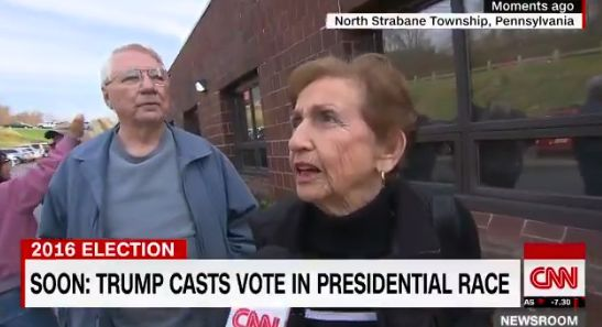 Bill and Jackie Krachala are voting for rival presidential nominees.