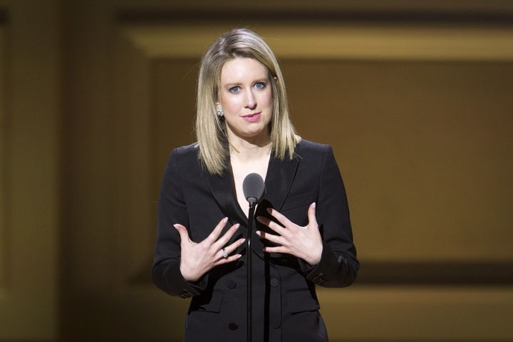Theranos Chief Executive Officer Elizabeth Holmes receives an award at the Glamour Women of the Year Awards on Nov.&nbsp