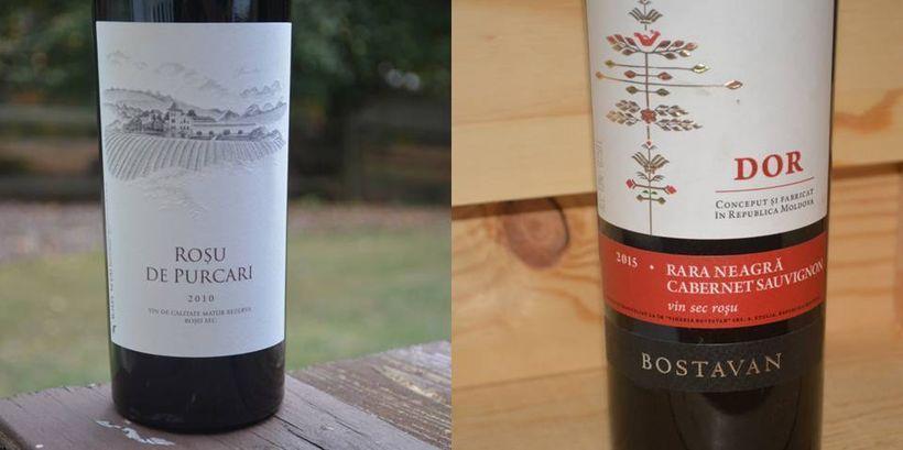 "Two good Moldovan wine picks:  (left) 2010 Rosu de Purcari, $30;  (right) 2015 Bostavan ""Dor"" Rara Neagra/Cabernet Sauvignon,"