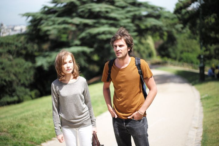 "Isabelle Huppert and Roman Kolinka star in a scene from ""Things to Come."""