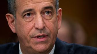 UNITED STATES - FEBRUARY 26: Former Sen. Russ Feingold, D-Wisc., U.S. special envoy for the Great Lakes Region and the Democratic Republic of Congo, testifies before a Senate Foreign Relations Committee hearing in Dirksen Building titled 'Prospects for Peace in the Democratic Republic of Congo and Great Lakes Region.' (Photo By Tom Williams/CQ Roll Call)