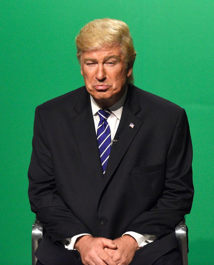 "Alec Baldwin playing Donald Trump on ""Saturday Night Live."""