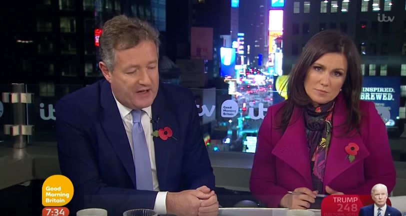 Viewers Point Out Frosty Atmosphere Between Susanna Reid And Piers Morgan After Election