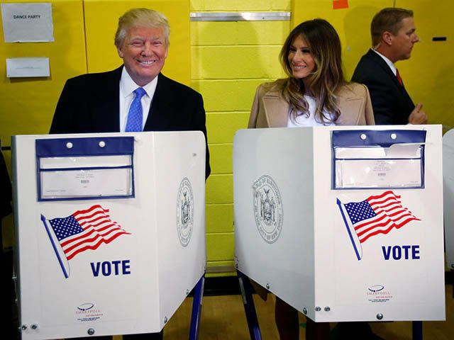 Donald and Melania Trump vote in New York City