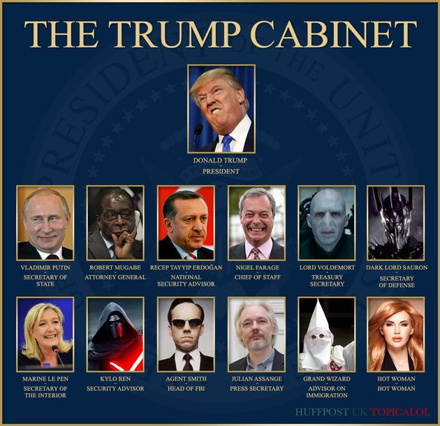 Donald Trump's New Cabinet Is Erm... Terrifying