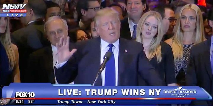 <strong><em>Donald Trump Defeats Hillary Clinton for U.S. Presidency.</em></strong>