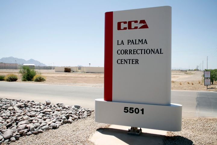 The La Palma Correctional Center is seen in Eloy, Arizona, May 11, 2010. Private prison stocks shot up Wednesday after D