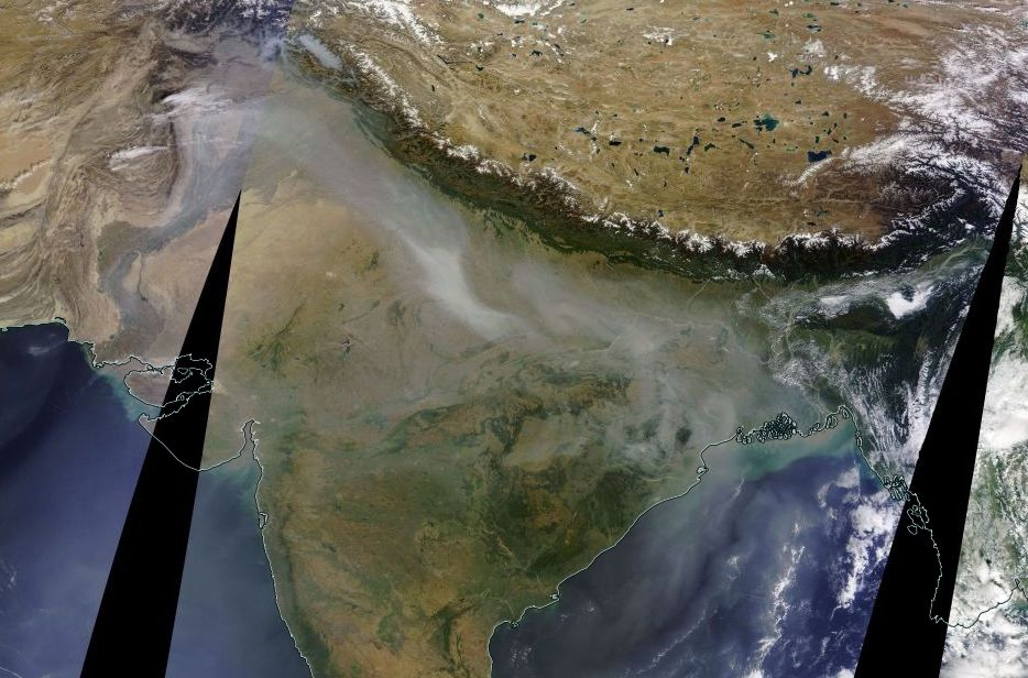 Smog In India Is Now So Bad You Can See It From