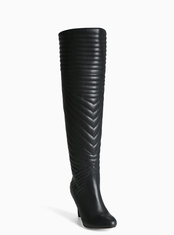 """Torrid, <a href=""""http://www.torrid.com/product/faux-leather-quilted-over-the-knee-boots-wide-width-wide-calf/10685632.html?cg"""