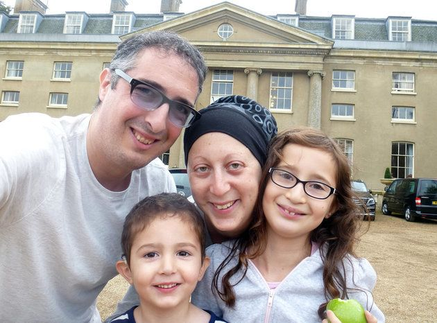 Elliot Choueka, his wife Rosie, and their two children.