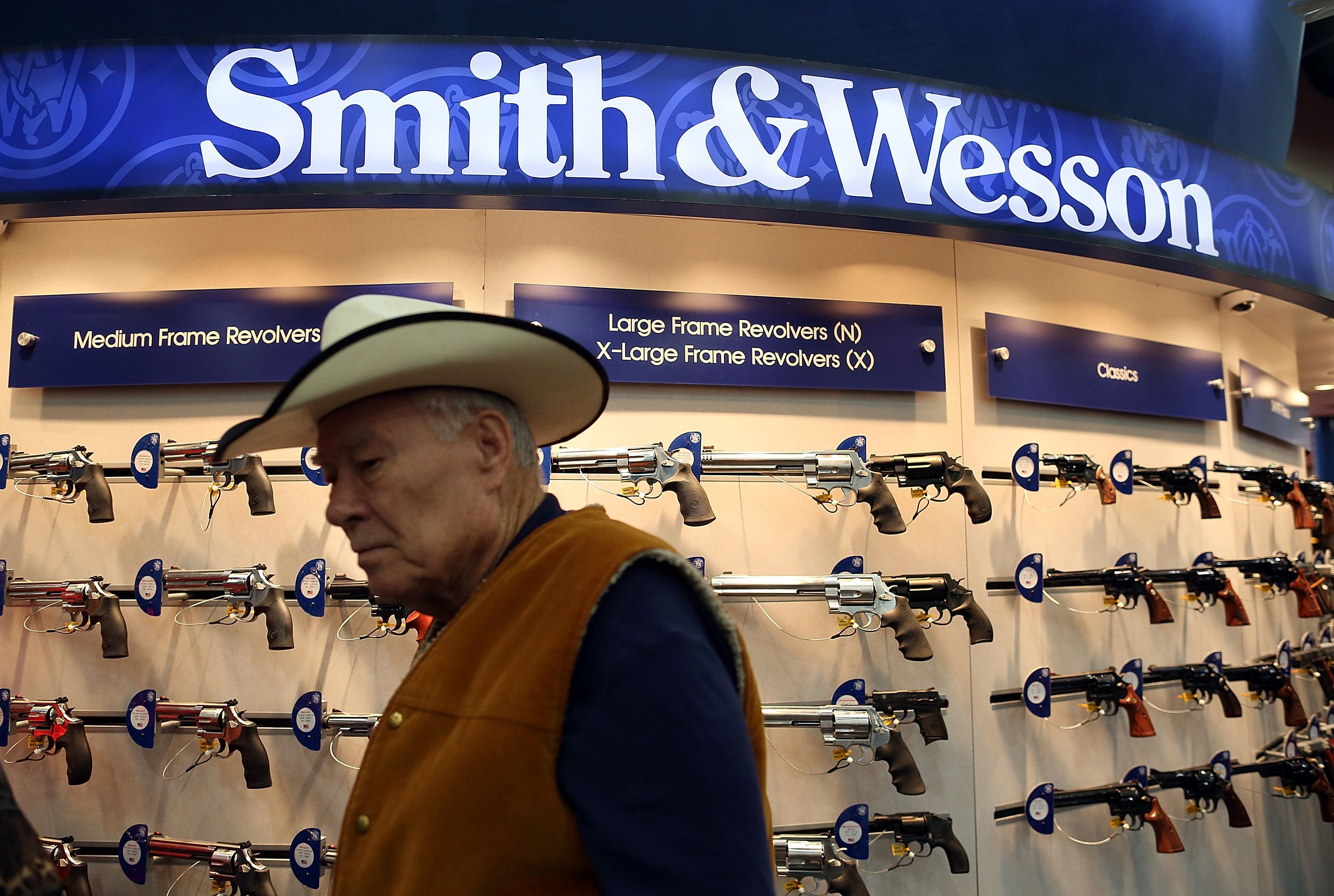 Smith &Wesson shares fell sharply Wednesday following Donald Trump'spresidential victory.