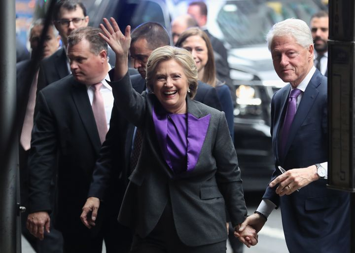 hillary clinton embodies unity in a purple suit at her concession speech huffpost - Purple Hotel 2016