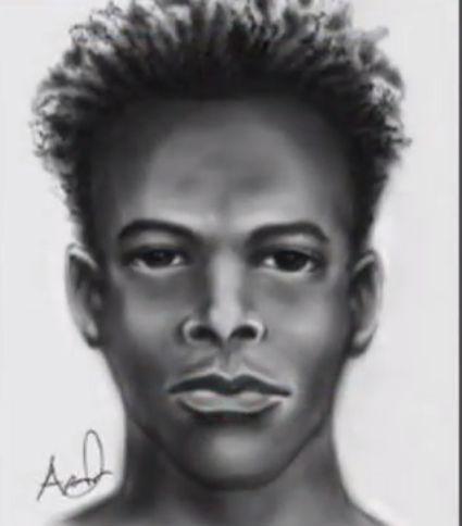 Sketch of the man sought for robbing a pregnant woman in Orlando, Florida.