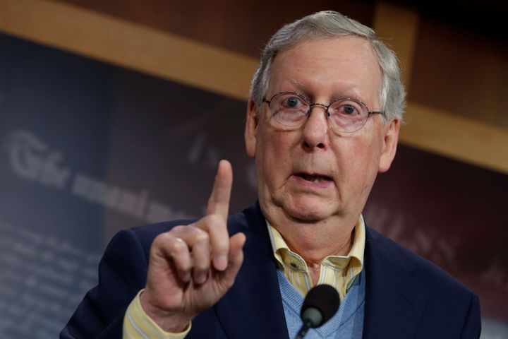 Senate Majority Leader Mitch McConnell (R-Ky.) on Wednesday dodged questions about President-elect Donald Trump's border wall