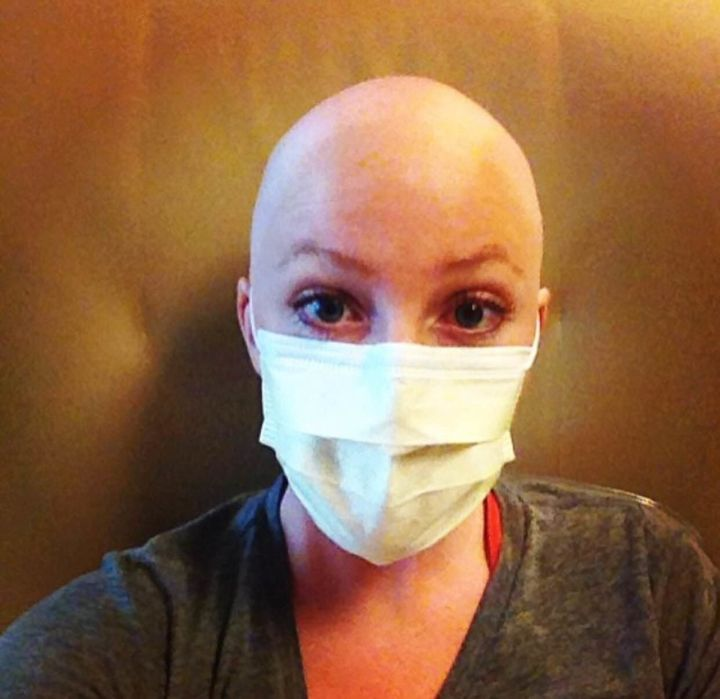 Leslie before her last round of chemotherapy in 2015.