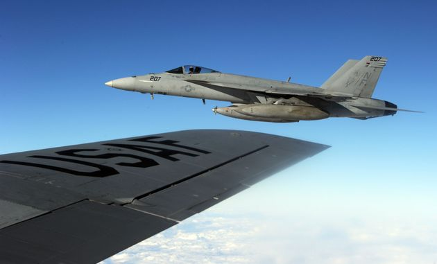F/A-18 Fighter Jets Collide Off San