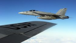F/A-18 Fighter Jets Collide Off San