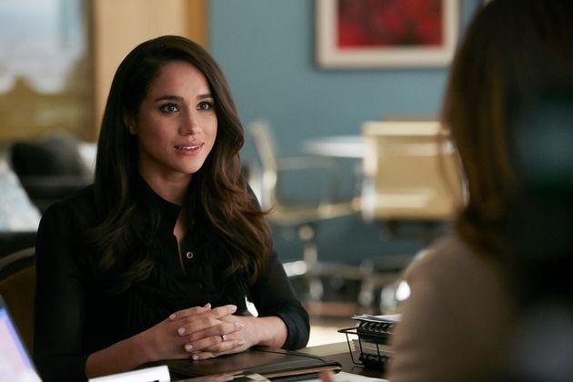 Meghan plays legal associate Rachel Zane in the