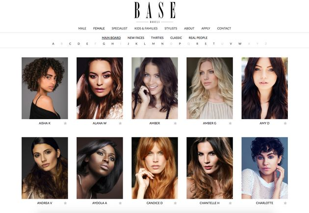 The official Base Models website, where its genuine contact details can be