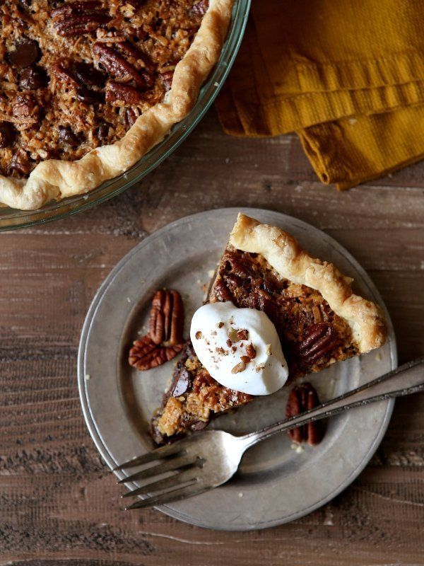 "<strong>Get the <a href=""http://www.completelydelicious.com/2016/10/chocolate-coconut-pecan-pie.html"" target=""_blank"">Chocola"