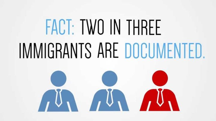 TWO IN THREE IMMIGRANTS ARE DOCUMENTED.