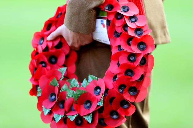 A wreath laid in remembrance of members of the Armed Forces who have died in the line of