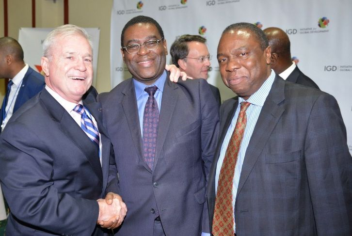 <em>IGD President Mima Nedelcovych with leading African corporate leaders.</em>