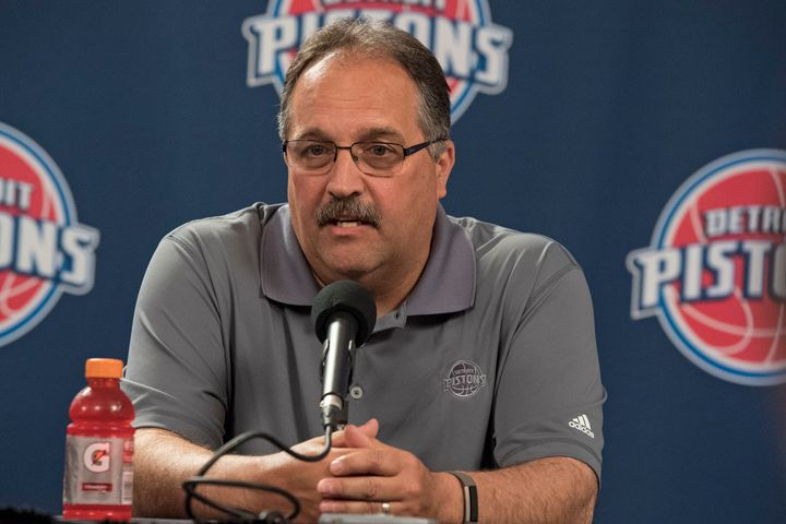 """Detroit Pistons coach Stan Van Gundy (pictured in July) said voters have thrown a good part of the U.S.population """"unde"""