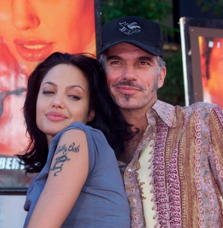 "Angelina Jolie and Billy Bob Thornton at the ""Gone in 60 Seconds"" LA premiere in 2000."