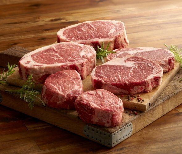 """No one will be hungry with this in their fridge.<br><strong><br>Get the <a href=""""https://www.44steaks.com/shop/family-pack"""" t"""
