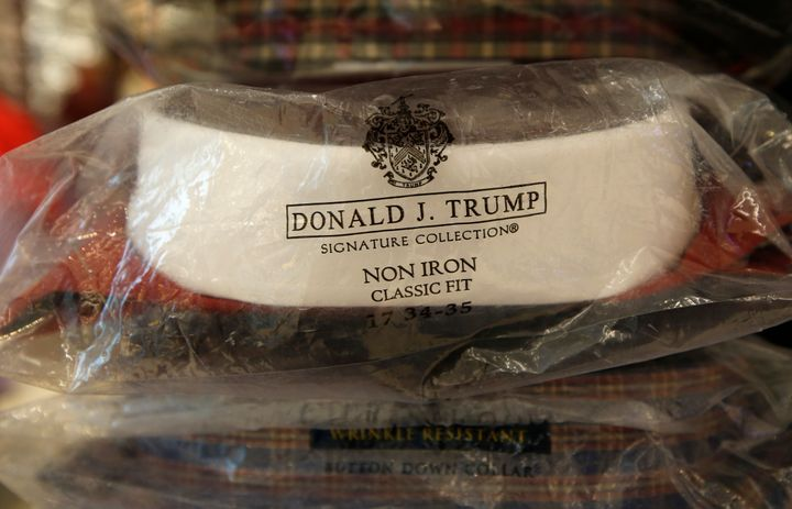 A Donald Trump menswear collection dress shirt at Macy's Herald Square flagship store in New York on July 1, 2015. Macy's end