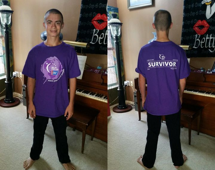 A teacher told 16-year-old Tyler Powers that the logo on his cancer survivor shirt was larger than the school's dress code allowed.