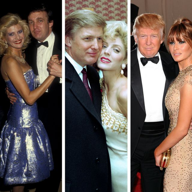 The three Mrs. Trumps:Ivana Trump(left), Marla Maples (center) and Melania Trump.