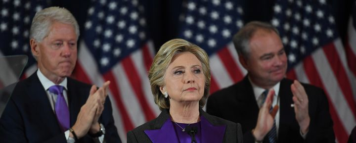 Hillary Clinton speaks during a post-election press conference on Nov. 9, 2016 in New York City.