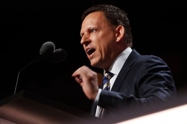 Peter Thiel spoke at the Republican National Convention and donated $1.25 million to the Donald Trump campaign.