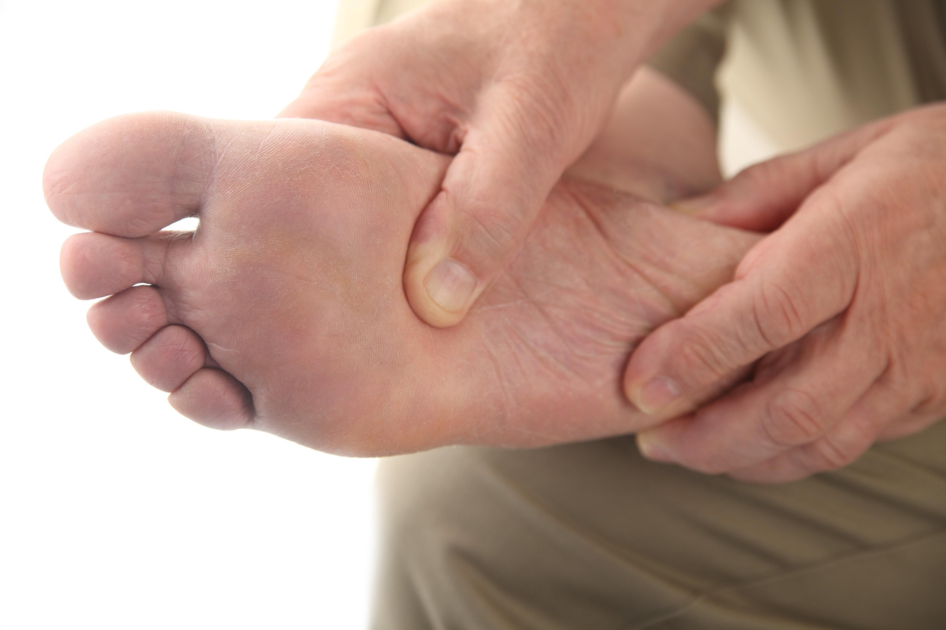 Hard lump under skin on foot