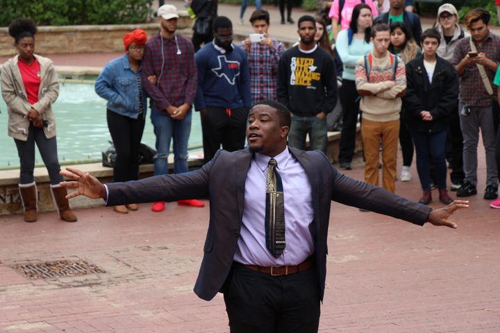 President of UNT's Dedicated Men, Joshua O. Okpara