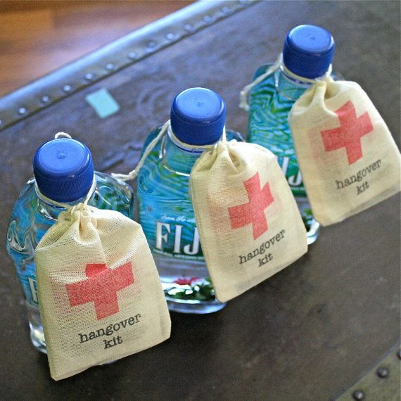19 wedding favors that wont end up in the trash huffpost 12 hangover kits junglespirit Gallery