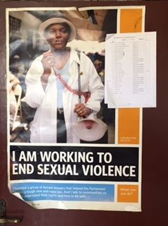 Poster in the Sexual and Gender-based Violence Crimes Unit, Monrovia, Liberia