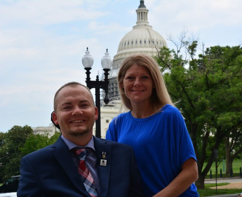 <em>Army veteran Matt Keil and his wife Tracy joined Wounded Warrior Project to explain to lawmakers the need for reproductiv
