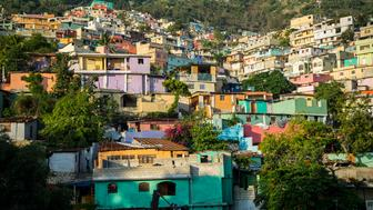 One of Haiti's biggest shantytowns was painted in a rainbow of psychedelic colors a few years back. The controversial project 'Beauty versus Poverty: Jalousie in Colours', is welcomed by some of the residents, and critiqued as purely cosmetic by others.