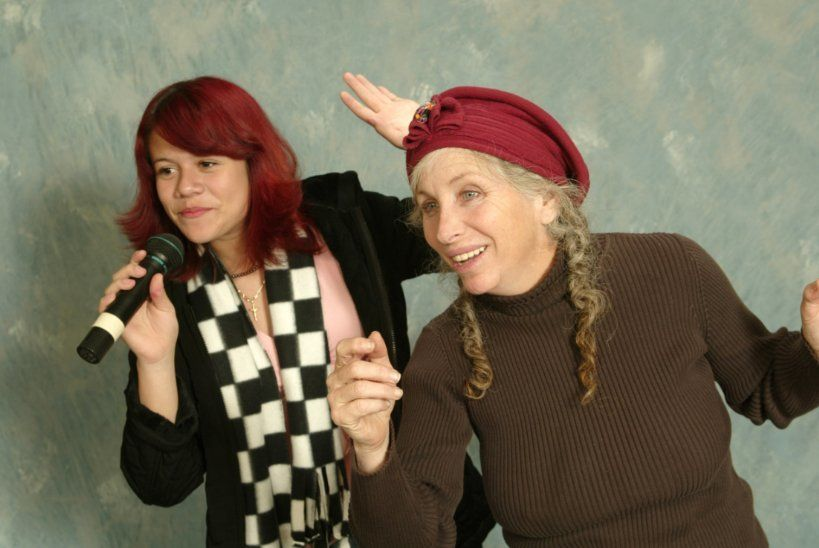<em><strong>Halo Circus' Allison Iraheta (formerly on American Idol) and her coach Pepper Jay</strong></em>