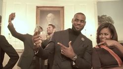 Watch Michelle Obama And LeBron James Crush The Mannequin