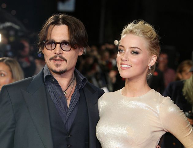 Johnny with ex-wife Amber