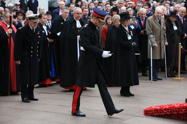The Duke of Edinburgh and Prince Harry at a remembrance event at Westminster Abbey on
